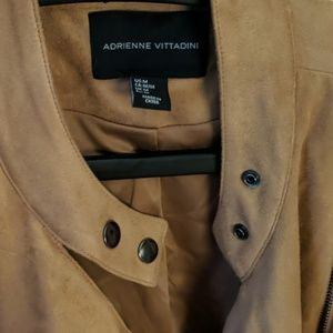 Adrienne Vittadini Jackets & Coats - Adrienne Vittadini faux tan suede Moto jacket